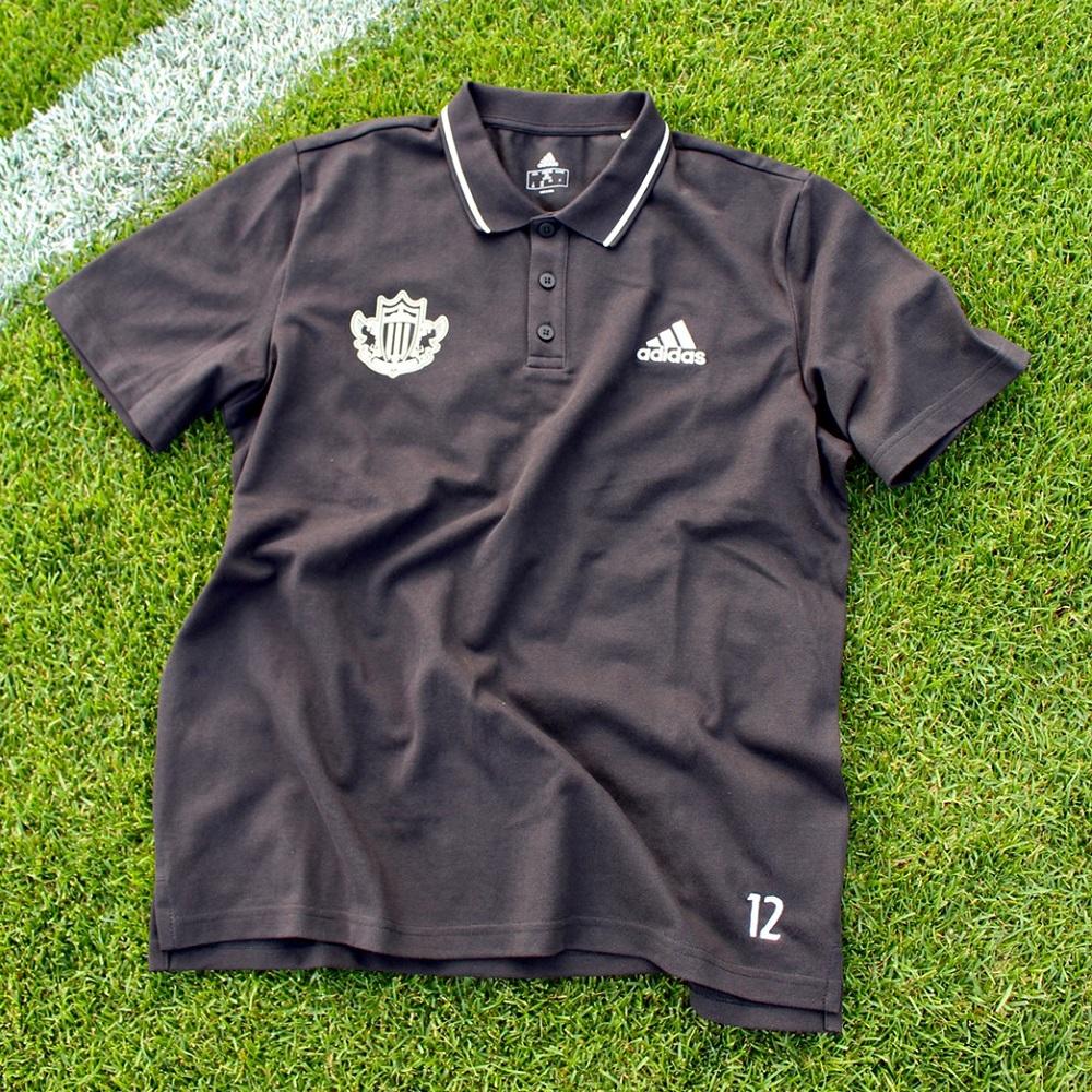 松本山雅×adidasポロシャツ(ブラック)